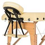 Klarfit MT 500 - Table de massage pliable de 210cm avec cavité faciale