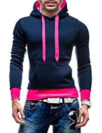 STEGOL Herren Kapuzenpullover Sweatshirt Sweatjacke Hoodie Pullover AK57