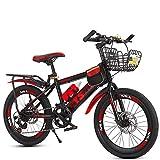 Double Frein À Disque Enfant Vélo de Montagne 7 Vitesses Bicyclette 20pouce...