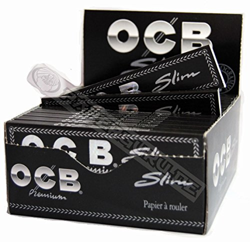 Price comparison product image OCB Premium Slim Cigarette Papers King Size Rolling Paper – 5 Boxes (250 Booklets)
