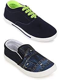 Scantia Casual Canvas Shoes Men's Combo 2 Shoes_Casual Shoes With Stylish Look New Latest Fashionable Trail Casual...