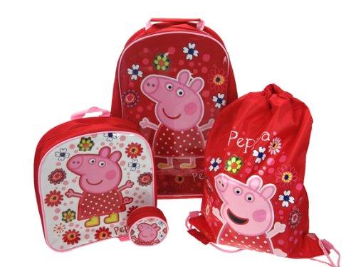 Peppa Pig tropisches Paradies 4 Stück Gepäck Set - Trolley-Tasche, Rucksack, Schwimmen-Tasche und Geldbörse (4 Stück Gepäck-set)
