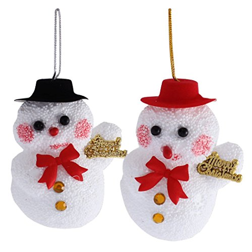 Handwerks-Hut-Schneemann-Schaum-Anhänger Dekoration Weihnachtsdekor-Weiß