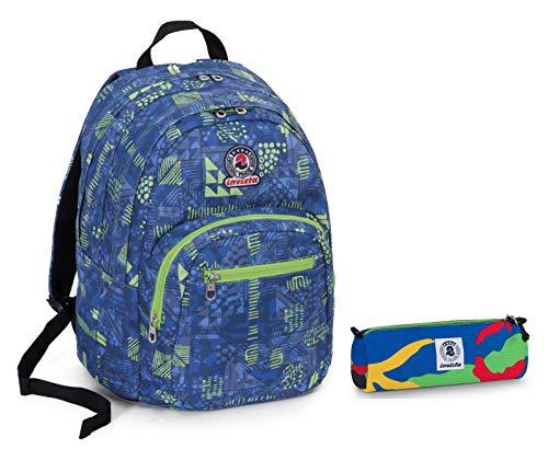 1c614d469c ZAINO INVICTA format + Portapenne - Azzurro Verde - scuola e tempo libero -  31 LT - Idea REGALO NATALE