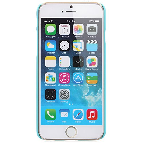 "Fosmon Apple iPhone 6 Case (GEM-SUN) 3D Bling Sunflower Design Case Cover für iPhone 6 (4.7"") - Fosmon Retail Packaging (Lila) babyblau"