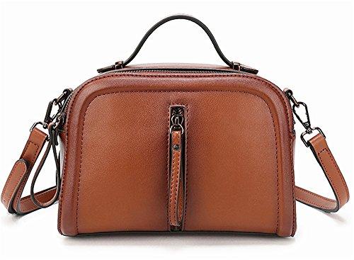 Sacs à main pour femme Xinmaoyuan Fashion sac à main en cuir de couleur épaule unique pulvérisation Paquet diagonale Sac pour femme en cuir Brown