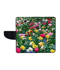 KolorEdge Printed Flip Cover For HTC Desire 516 Multicolor - (50KeMLogo09257HTC516)