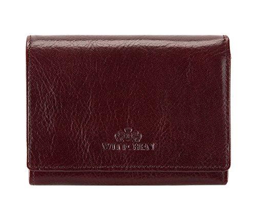 WITTCHEN portafoglio, Marrone Scuro, Dimensione: 9.5x12 cm - Materiale: Pelle di grano - 21-1-070-4 Borgogna