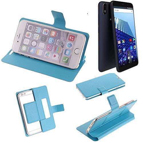 K-S-Trade Flipcover für Archos Access 57 Schutz Hülle Schutzhülle Flip Cover Handy case Smartphone Handyhülle blau