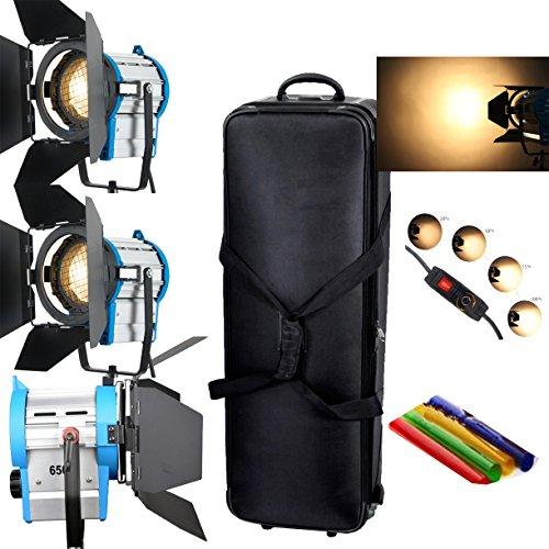 contenitore di rotella Volante Spotlight Lighting HWAMART®2x1000W + 650wdimme tungsteno Fresnel