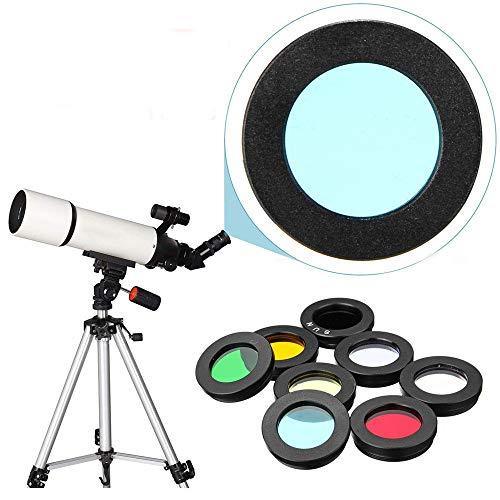 YL Treasure Teleskop für Kinder & Anfänger 8pcs / Set 1.25inch Lens Filter Kit Nebelfilter Mondsun Filter for Teleskopokulares Zubehör (Farbe Shows, Größe : Einheitsgröße)