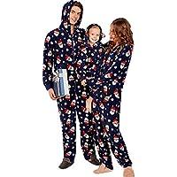 Navidad de BaZhaHei, Niño bebé niño niña Capucha Mameluco Mono Pijama Familia Ropa de Dormir Traje de Navidad Mujeres Hombres Navidad con Capucha Romper Mono Pijamas Familia Ropa de Dormir Trajes