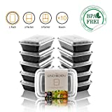 Amazy Meal Prep Container 10er Set | 1 Fach – Wiederverwendbare Lunch Box zur Vorbereitung und Portionierung von Mahlzeiten (10 Stück, 900 ml)