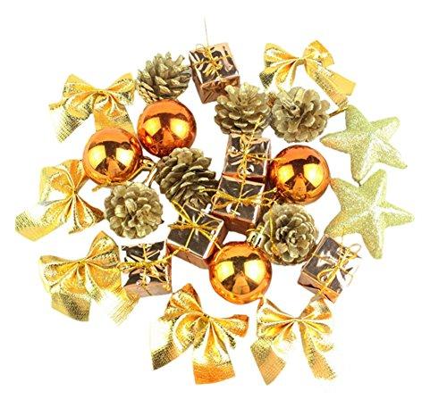 YARBAR Alberi di Natale Hanging bronzo di Natale della decorazione del partito di nozze oggetto decorativo per 24pcs
