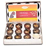 BETALA FRAGRANCE Guggal Sambrani 24 Incense Cups Box with Holder Plate (24)