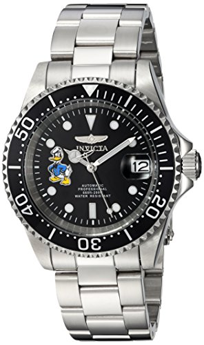 Invicta 24396 Disney Limited Edition - Donald Duck Unisex Wrist Watch Stainless Steel Automatic Black Dial