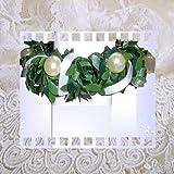 Tropfschutz Kerzenkranz für Taufkerze Kommunionkerze Größe WÄHLBAR 3 bis 10 cm mit Perlen sehr edel IG1