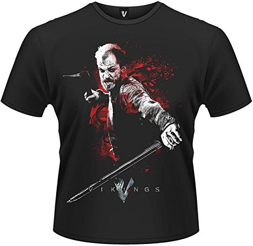 Playlogic International(World) - Vikings Floki Attack, T-shirt da uomo, nero (black), L