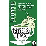 (6er BUNDLE)| Clipper Fairtrade Grüner Tee mit Ginseng 20 Beutel 40g
