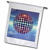 3dRose FL_19940_1 Spiegelkugel Spiegelkugel Discokugel Tanzt in der Atmosphäre über Erde, Gartenflagge, 30,5 x 45,7 cm