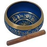 Aone Indien Best Qualität Blau Klangschale Musical Instrument für Meditation 14cm + Cash Umschlag (10Stück)