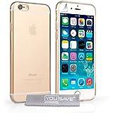 Yousave Accessories iPhone 6 Hülle Klare Silikon Gel Schutzhülle