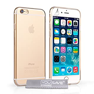 Yousave Accessories Kompatibel Für iPhone 6 Hülle Klare Silikon Gel Schutzhülle (B00MUQTUZ8) | Amazon price tracker / tracking, Amazon price history charts, Amazon price watches, Amazon price drop alerts