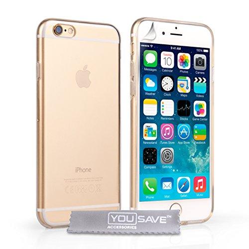 Yousave accessories cover per iphone 6s custodia chiaro trasparente silicone gel