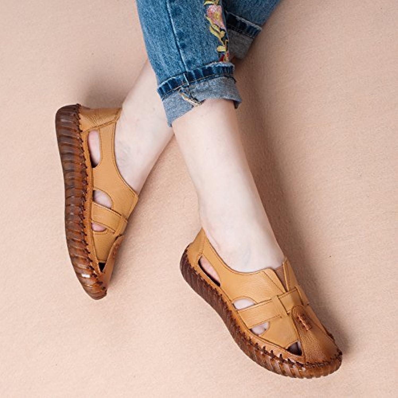 Sandalias de Verano para Mujer Zapatos Casuales Suelas de Paja Hechas a Mano Plataforma Gruesa Antideslizante... -