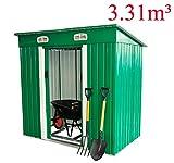 Cobertizo Metalico 195x122x180cm Caseta 1,95 m2 Jardin herramientas Almacen
