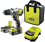 Ryobi One+ Brushless R18PDBL - Taladro percutor sin escobillas de 18V...
