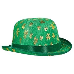 Amscan-25066120x 22cm Oro de día de San Patricio Shamrock Debry sombrero