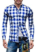 BOLF Herrenhemd Langarm Shirt Hemd Slim Fit Freizeit 2779