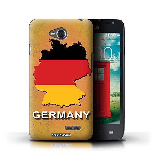 Kobalt® Imprimé Etui / Coque pour LG L65/D280 / Amérique/Américain/USA conception / Série Drapeau Pays Allemagne/Allemand