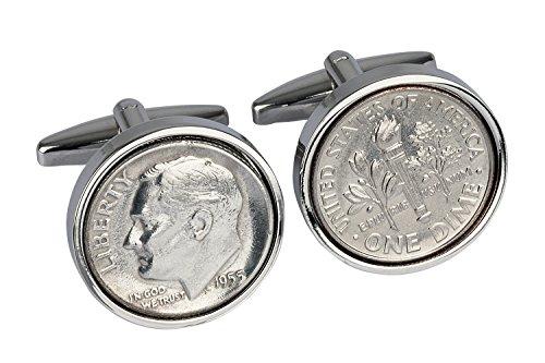 Birthday Cufflinks Cadeau d'anniversaire 60e Anniversaire Cadeau -US- 1954 USA 1954 Véritable Rare 60e Coin- Présent
