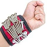KHTONE Magnetische Armbänder werkzeug tasche Schrauben tasche, mit 5 leistungsstarken Magneten Magnet Armbänder für Holding kleine werkzeug, Schrauben, Nägel, Dübel, Bohrungen , Nägel /Best tool Geschenk für DIY Handwerker