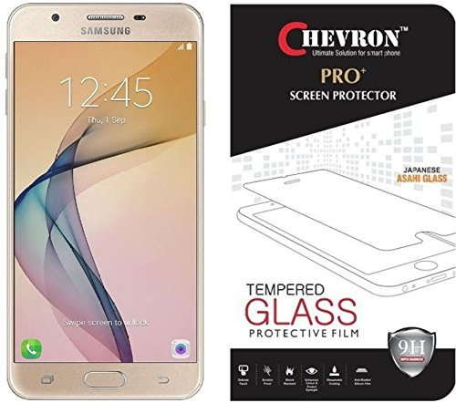 Chevron Premium Tempered Glass Screen Protector Skin Cover for Samsung Galaxy J5 Prime  available at amazon for Rs.99