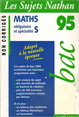 Livre BAC 94-95 MATH TERM S N.CORR pdf, epub ebook