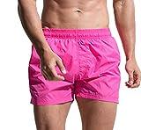 Lvguang Herren Badeshorts Kurz Freizeit Badehose Schnell Trocknend Strandshorts Schwimmhose Beachshorts Atmungsaktiv Shorts (Pink, Asia M)