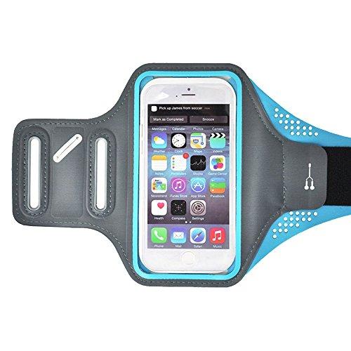 Eizur Fascia da braccio per IPhone 6/6s Sports Armband in Neoprene Smartphone Caso Copertina Pocket Tasca con Regolabile Cinturino Universale 5.5'' Telefono per Corsa Esercizi Ciclismo Allenamento podistica Blu