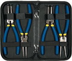 Sprengringzangen-Satz 150 mm 4-tlg Seegering-Sicherungsring-Zange Außen Innen