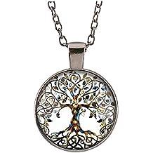 Suxnos Collar del árbol de la Vida Colgante de la vendimia para las mujeres / regalo de los hombres