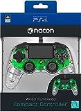 Manette Lumineuse Verte Filaire pour PS4 Nacon