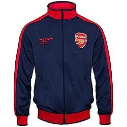 Arsenal FC - Chaqueta de entrenamiento oficial - Para hombre - Estilo retro - Azul marino cremallera - XL