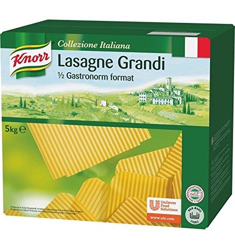 Knorr Lasaña en láminas caja de pasta seca 5kg