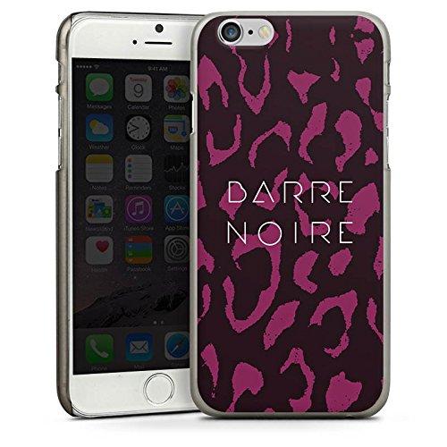 Apple iPhone 4 Housse Étui Silicone Coque Protection BARRE NOIRE Fashion Léopard CasDur anthracite clair