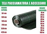 ITALFROM Teli Telo per PACCIAMATURA Verde QUADRETTATO Tessuto Polipropilene ANTISTRAPPO- mt 10 x 3.30h