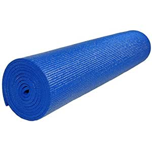"""PhysioRoom PVC Yoga Mat 24""""x68""""x3.5mm - Non-Slip, Cushioned, Pilates, Aeorobics, Exercise, Fitness, Gym, Home, Lightweight, Portable, Gymnastics, Extra Stability, Body Strengthen, Soft Surface"""