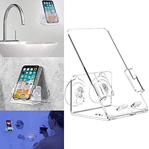 nne & Dusche Handy Case Ständer Halterung. Caddy Tray Halterung mit Zwei leistungsstarken Starke Saugnäpfe Perfekt für Alle Handys iPhone Galaxy. Acryl Klar Ein Jahr Garantie ()