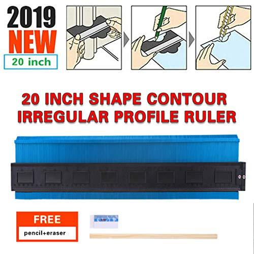 Tools Heimwerker,TwoCC Unregelmäßig Profil Form Kontur Lineal Kunststoff Messgerät für Duplizierer Skala 500mm (Form Kunststoff-maske)